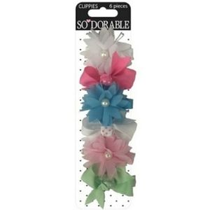 #916 So Dorable Hair Accessories Set Bows Clips
